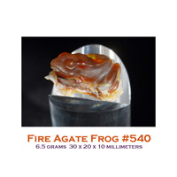 fire agate frog carving
