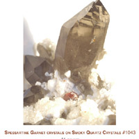 quartz with spessartine garnet crystals