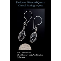Herkimer Diamond Sterling Silver Earrings