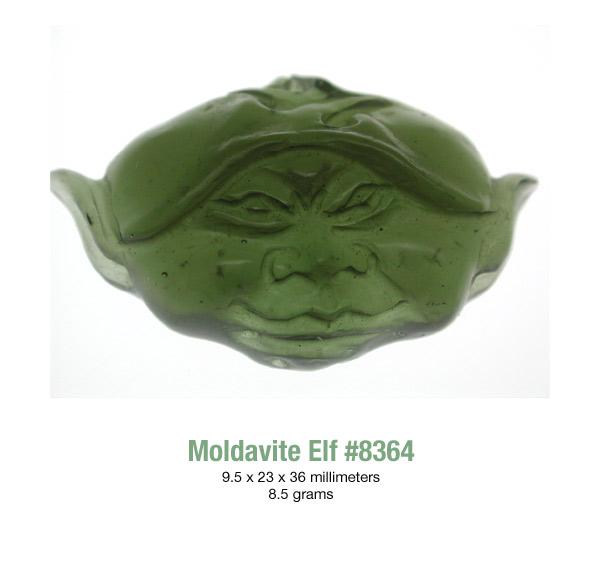 Moldavite Elf carving #8364