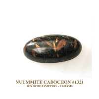 nuummite Cabochon from Greenland