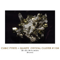 quartz with pyrite crystals