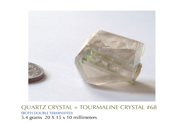 Quartz Tourmaline Crystal