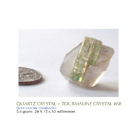 TOURMALINE + QUARTZ CRYSTAL