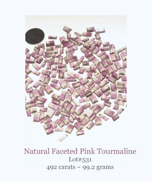 Pink Tourmaline Facets