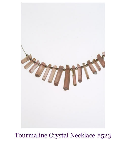 Tourmaline crystal jewelry