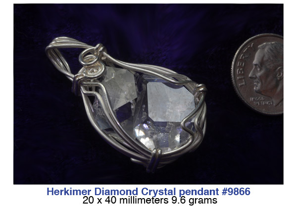Herkimer diamond sterling silver pendants herkimer diamond herkimer diamond crystal pendant aloadofball Gallery