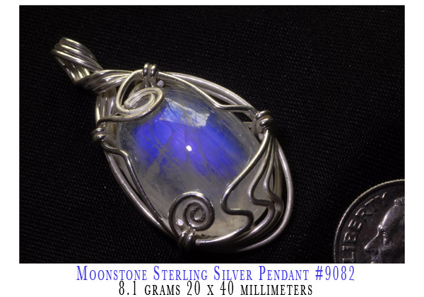 wire wrapped Moonstone Pendant