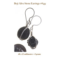 boji alive stone earrings