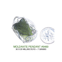 Wire Wrapped Moldavite Facet