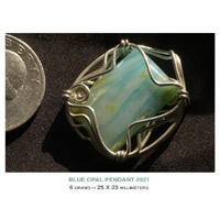Andes Blue Opal Sterling Silver Pendants